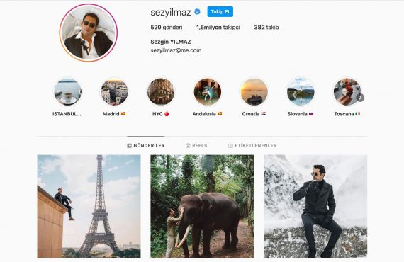 Instagram fenomeni Sezgin Yılmaz