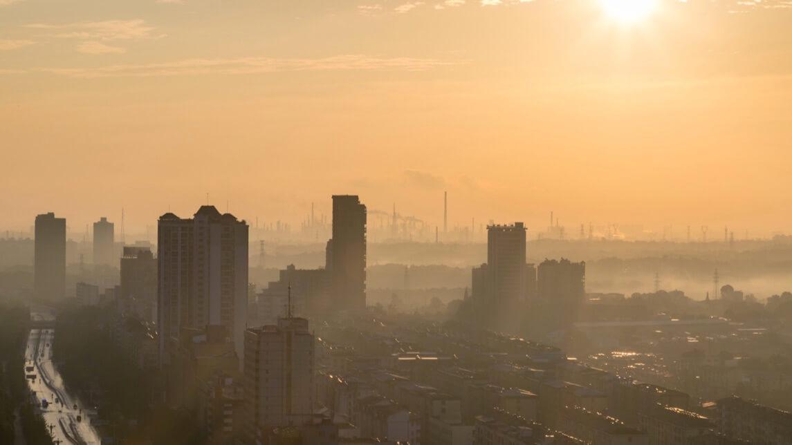 şehir zehirli ve kirli hava