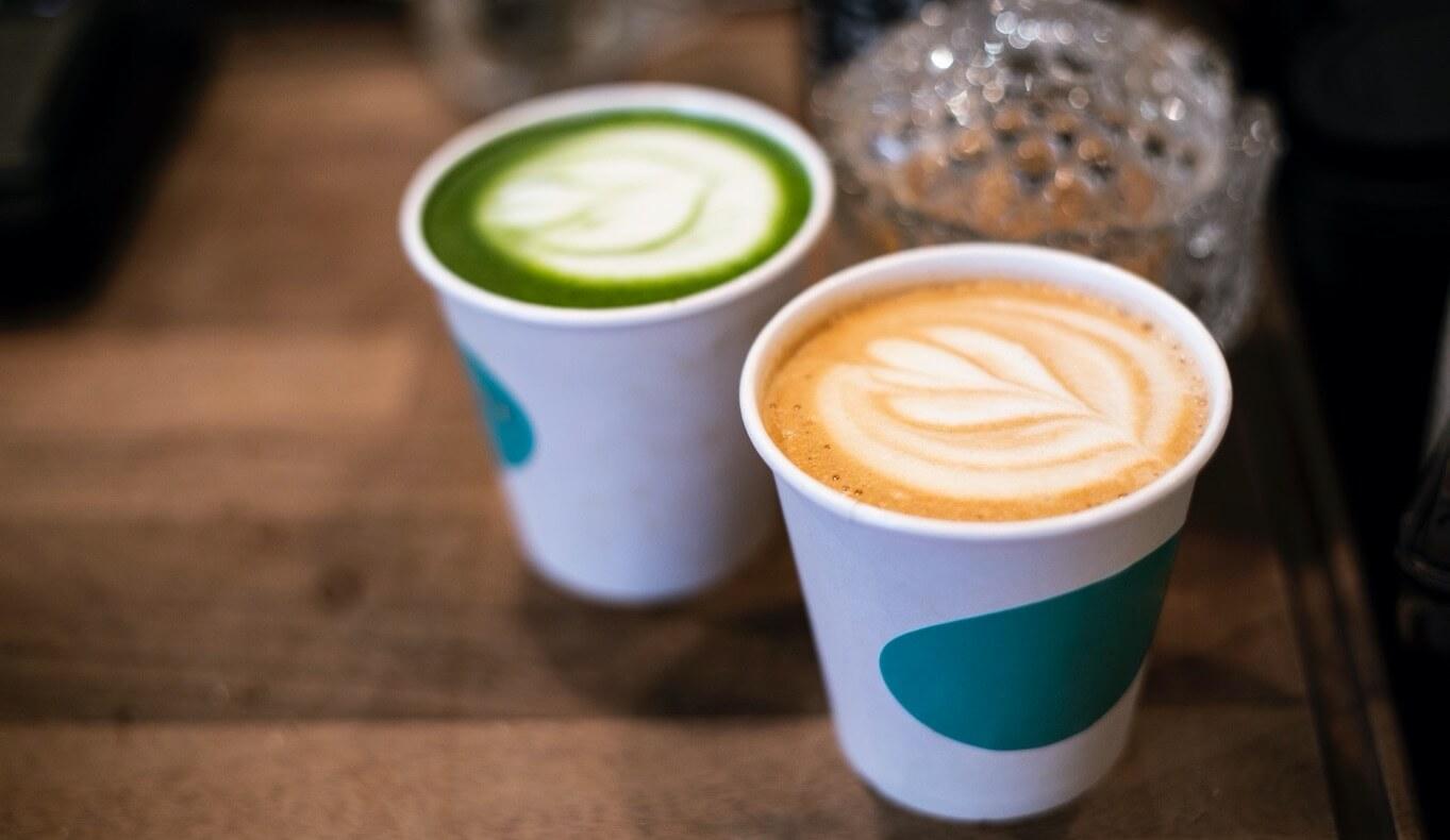yeşil çay ve kahve